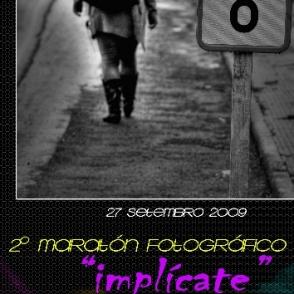 """Cartel II MARATÓN FOTOGRÁFICO """"IMPLÍCATE"""" CONCELLO DE CAMARIÑAS 2009"""